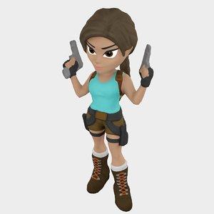3D video lara croft model