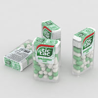 tic tac spearmint mix 3D
