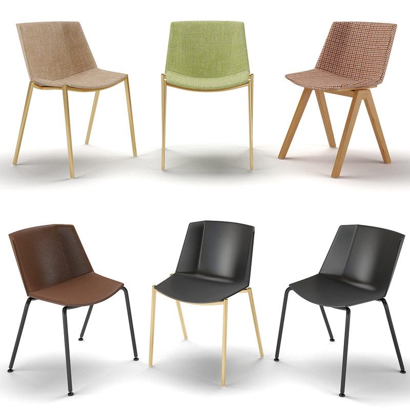chairs soft aiku mdf 3D model