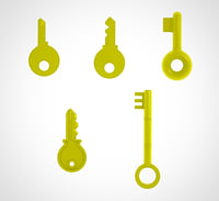 golden key set 5 3D model