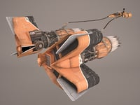 3D model pod racer star wars