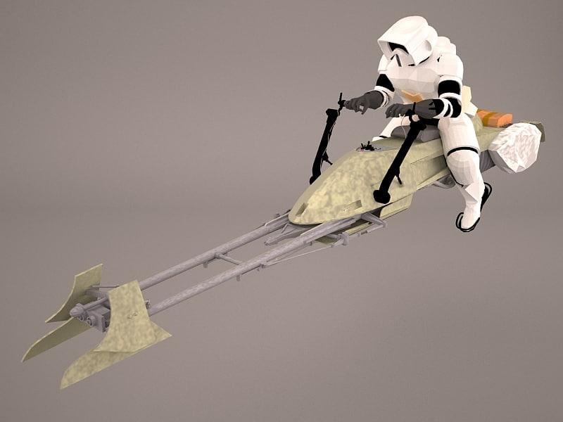 star wars concept bike model