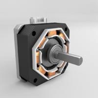 3D stepper nema 17 parts model