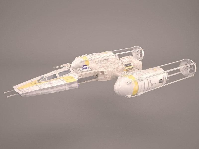 3D model star wars y wing
