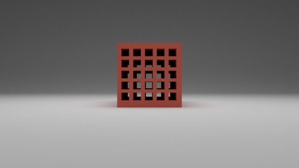 hollow brick model