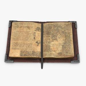 3D old book v2 model