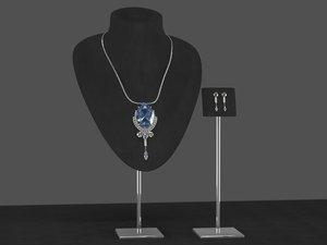 sapphire necklace 3D model