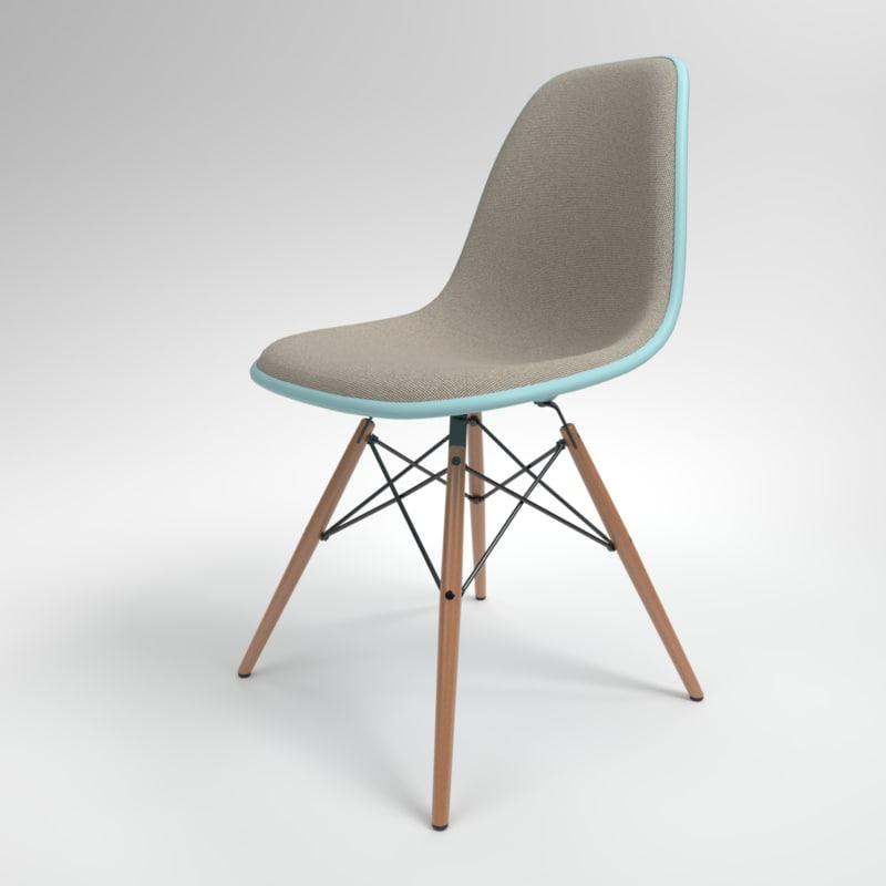 interior vitra eames plastic chair 3D