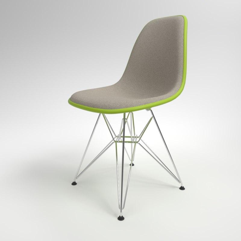 interior vitra eames plastic chair 3D model