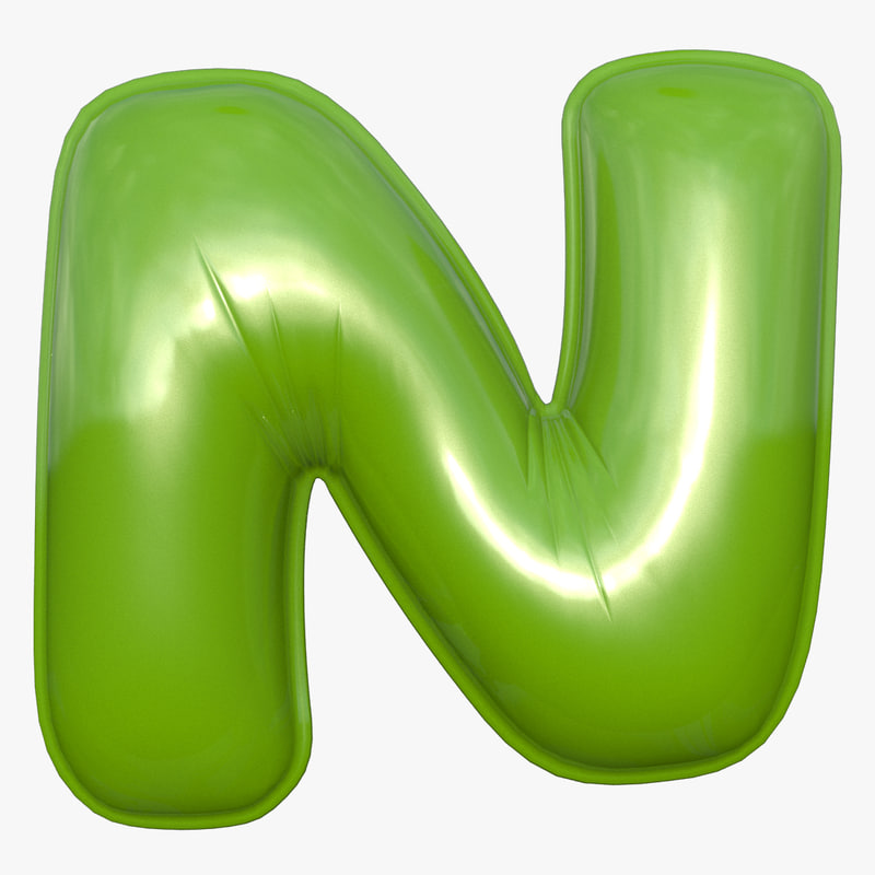 3D foil balloon letter green