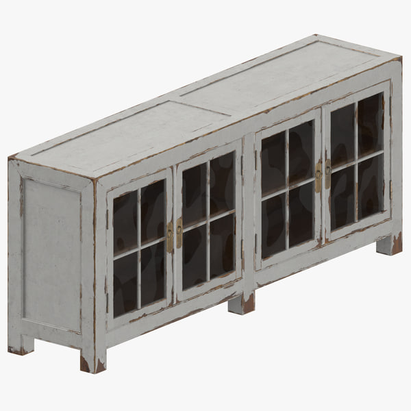 traditional display cabinet 3D model