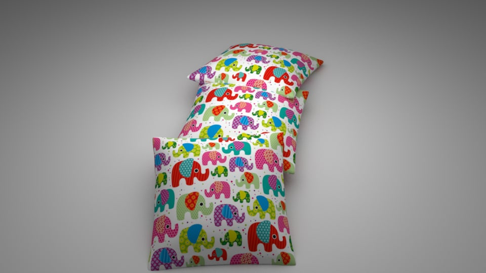 fabric pillow decorative model