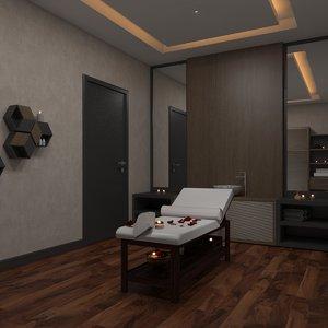 3D spa massage room