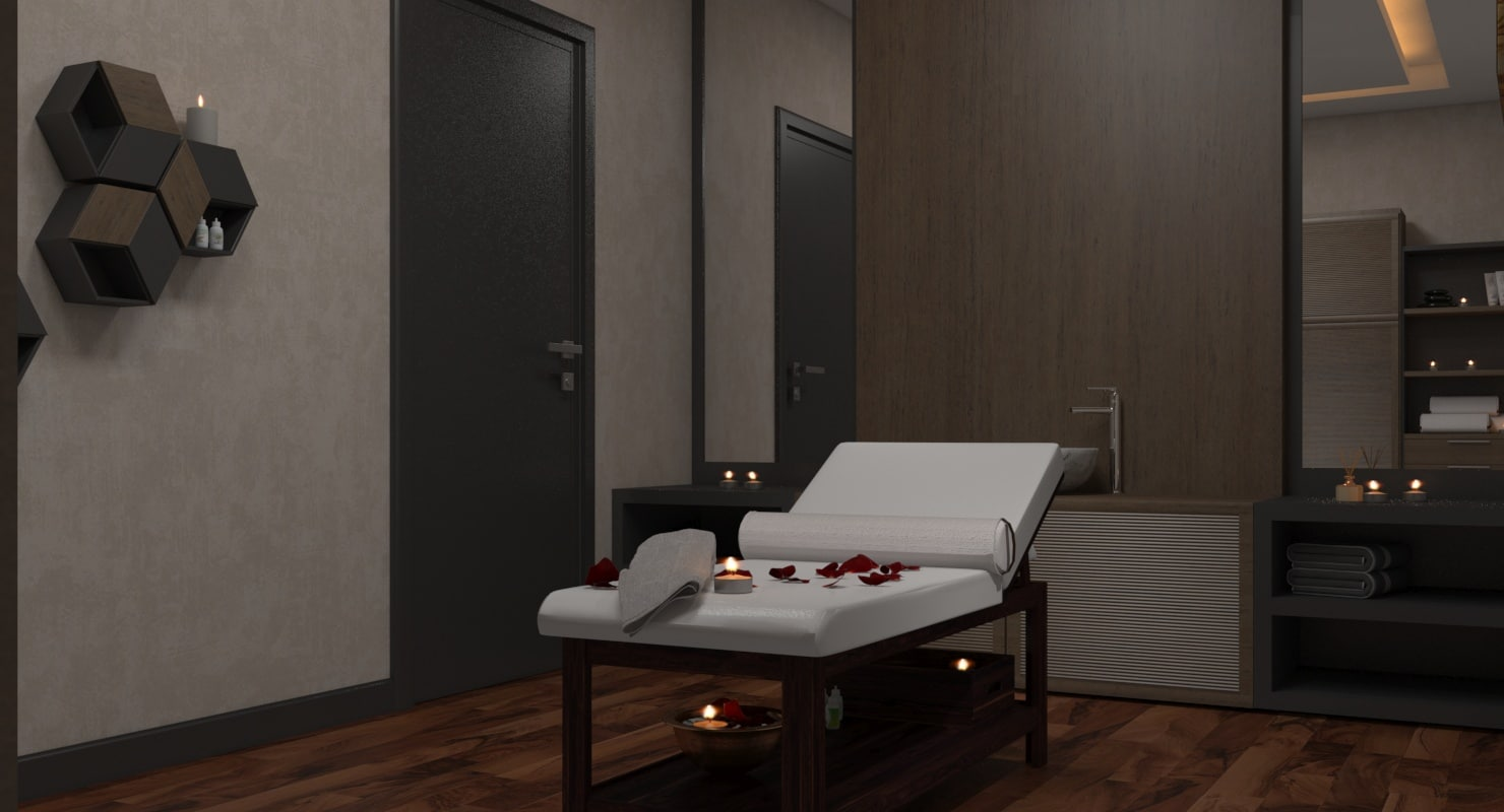 3D spa massage room