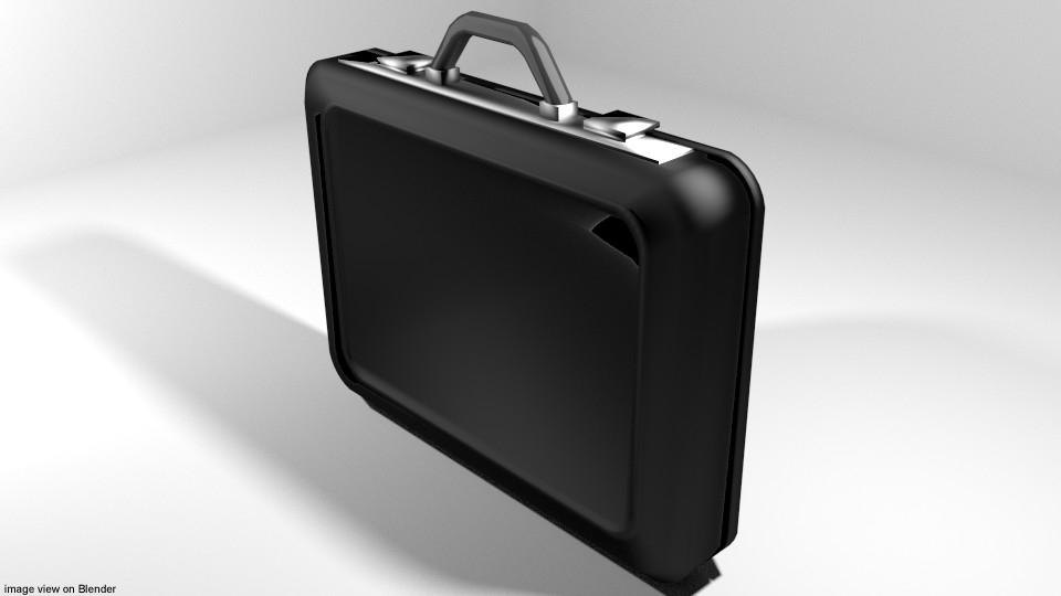3D attache briefcase case