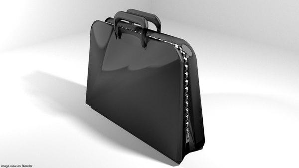 briefcase case portfolio 3D model