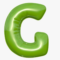 Foil Balloon Letter G Green model