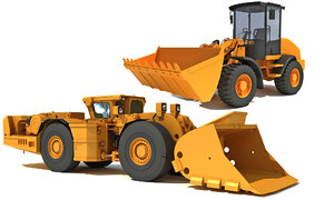 mining loaders 3D