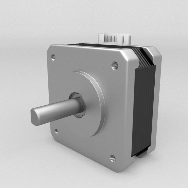 3D model stepper nema 17 18ncm