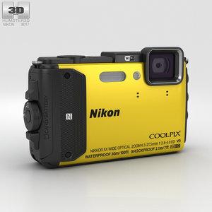 3D model nikon coolpix aw130