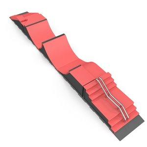 skateboard ramp 3D model