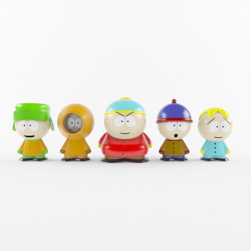 south park toy 3D model