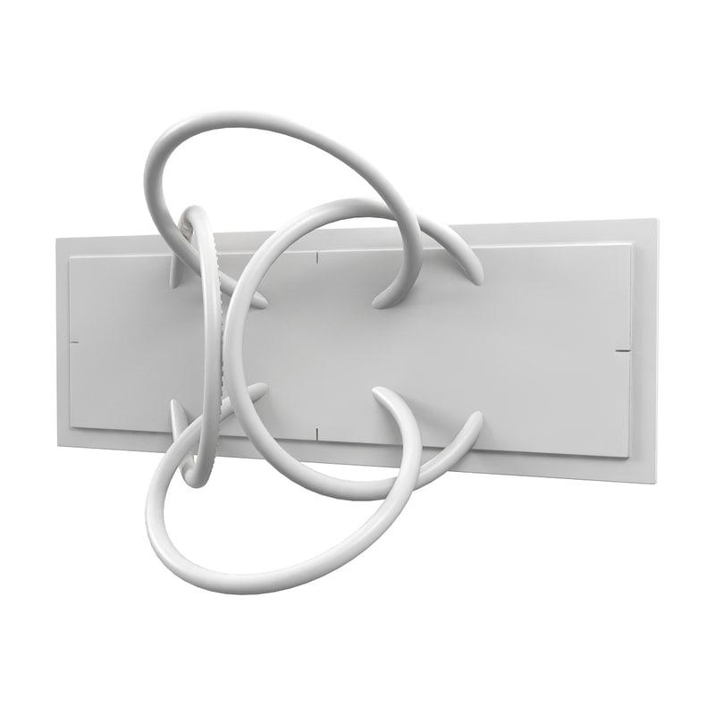 flos wall piercing sconce 3D model