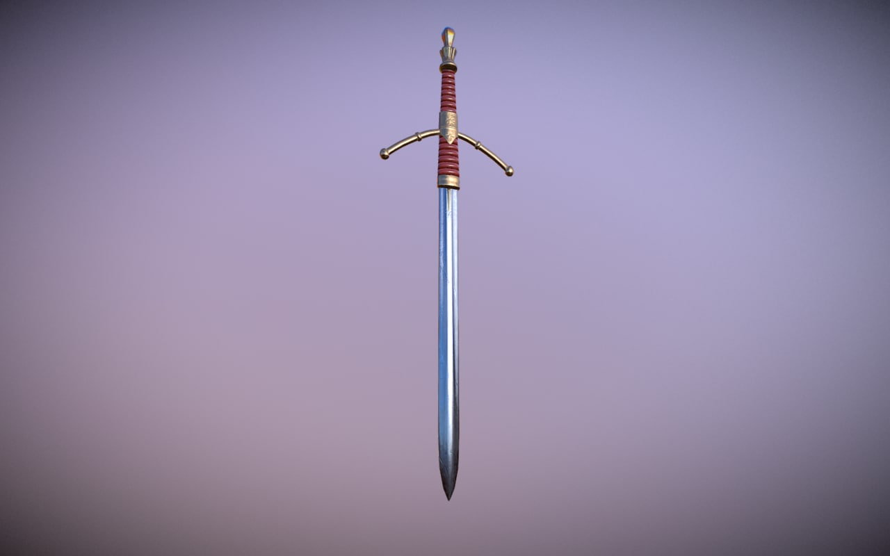 medieval sword 3D