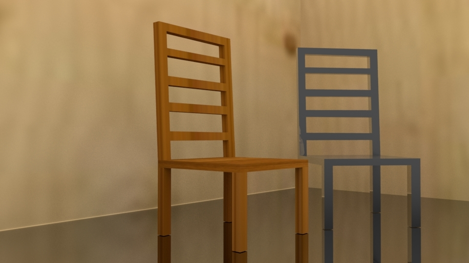 chair interior basic 3D model