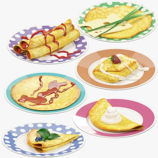 pancakes plate v1 3D model