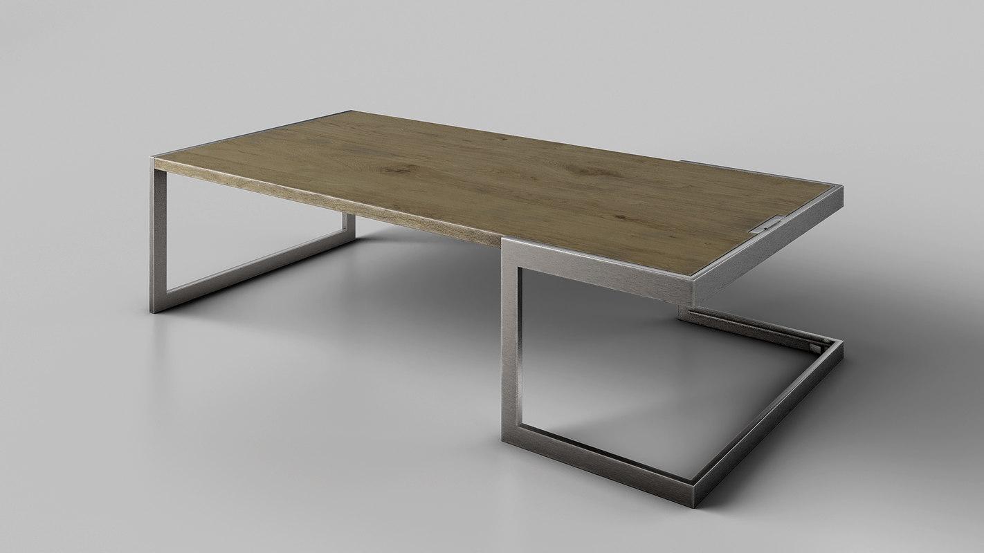 3D coffe table model