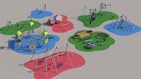 modern children playground 3D model