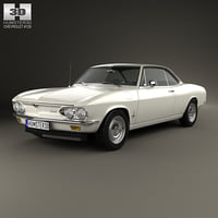 3D chevrolet corvair 1965