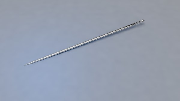 hand sewing needle 3D model