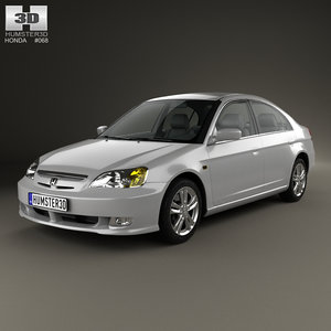 3D honda civic 2001 model