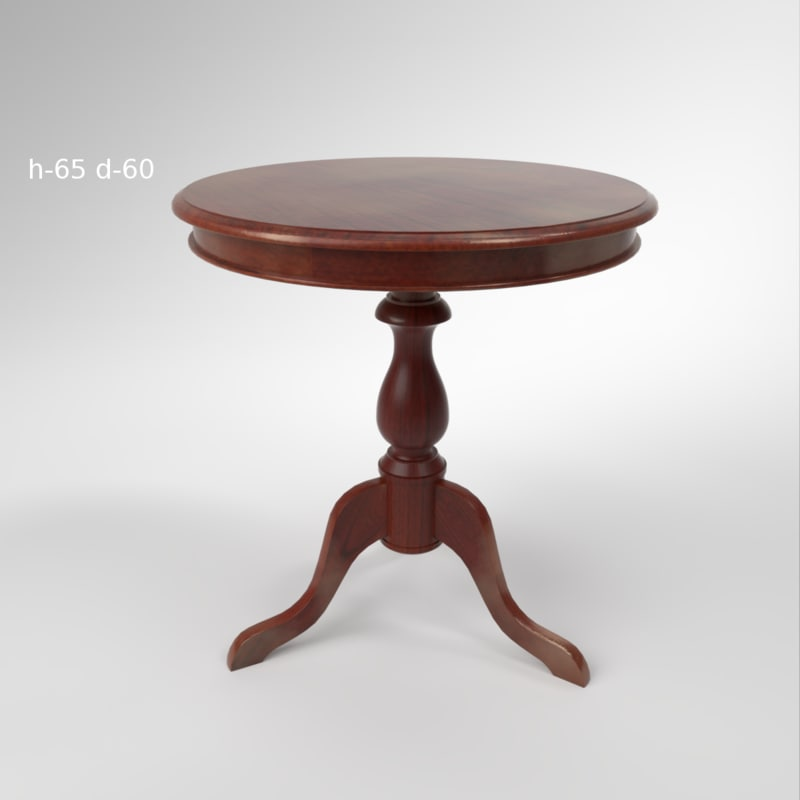 3D interior satin furniture coffe table