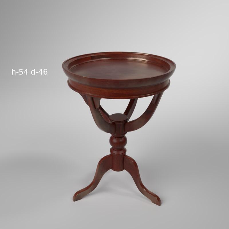 3D interior satin furniture coffe table