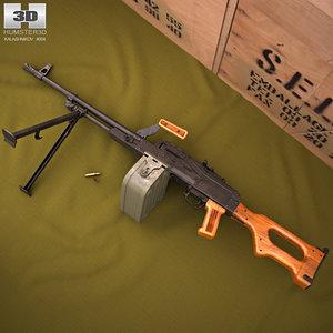 pk machine gun 3D model