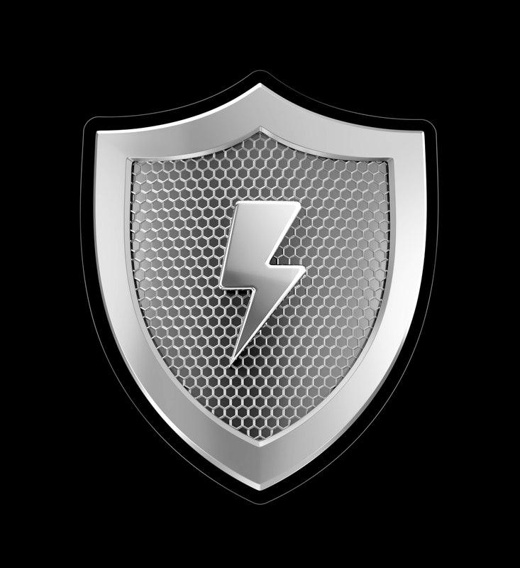 3D model shield cybersecurity