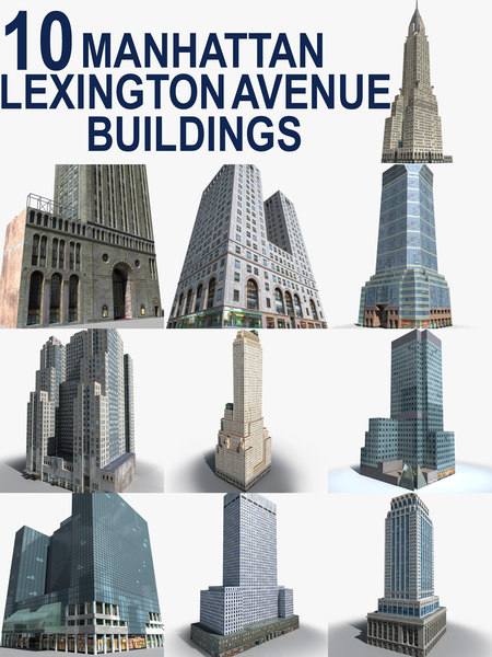 3D new york manhattan buildings