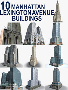 3D new york manhattan buildings