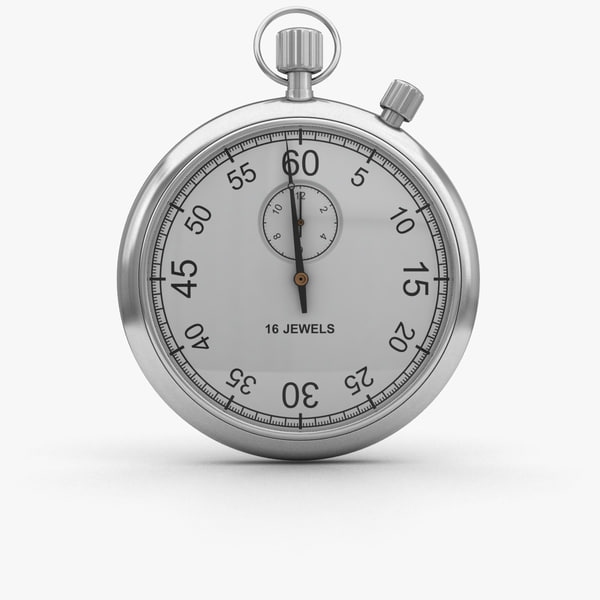 3D stopwatch watch stop