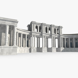 temple building model