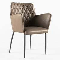 Chair with a leather seat