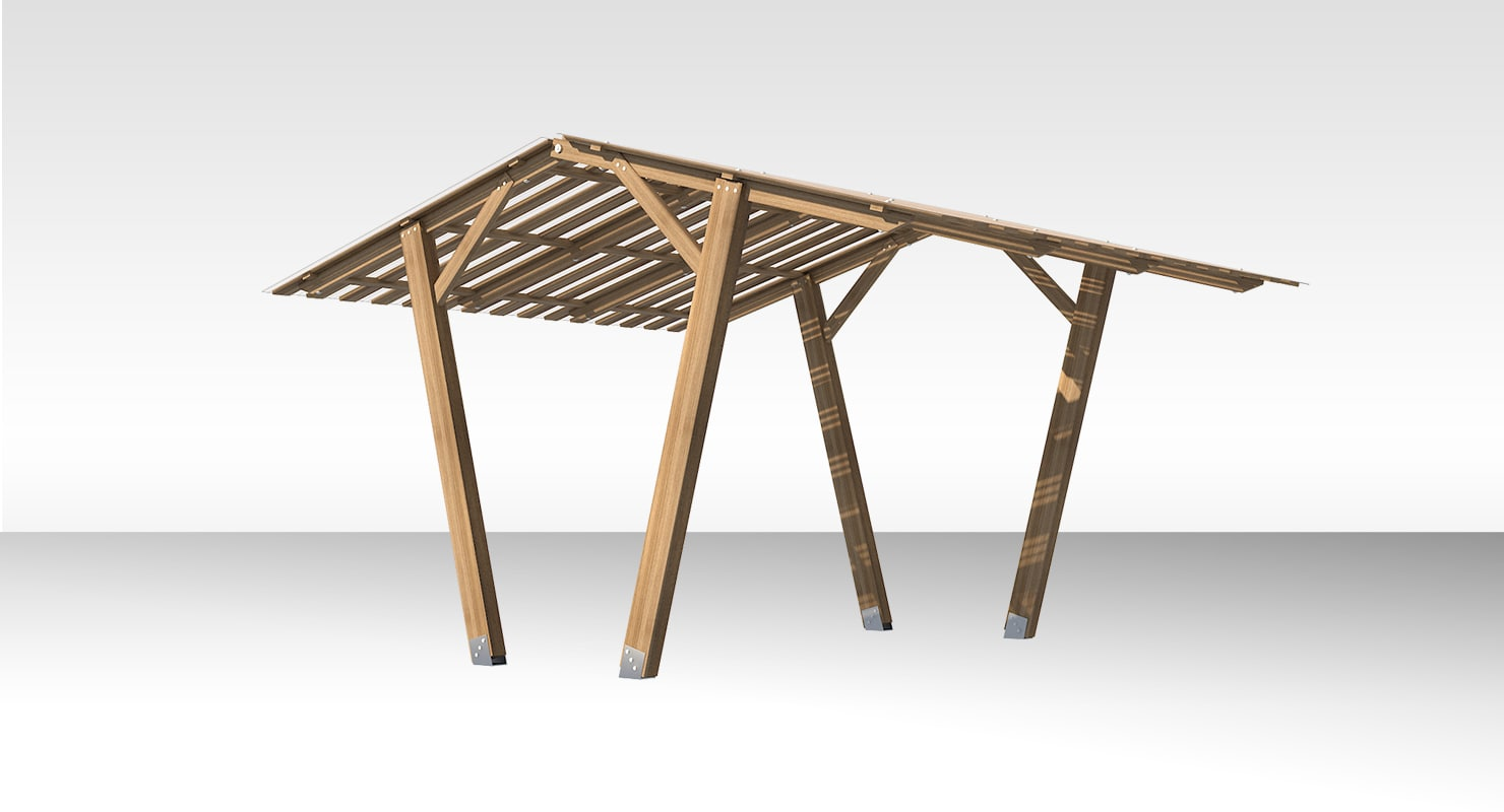 wooden canopy 3D model