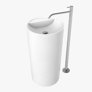 3D antonio lupi lavabi freestanding model