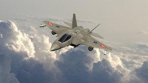 tai fighter jet 3D model