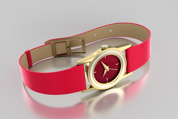 3D model trendy woman s watches