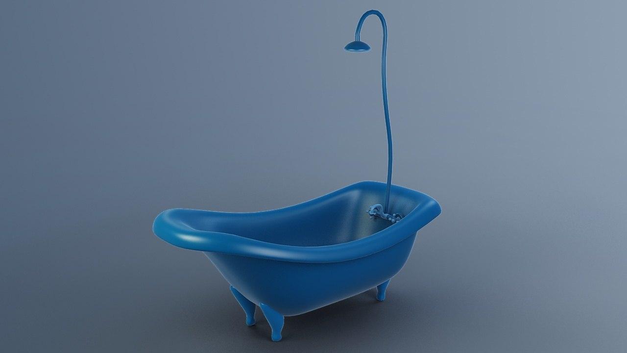 3D cartoon tub