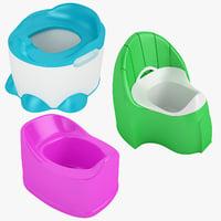 3D model baby toilet 01